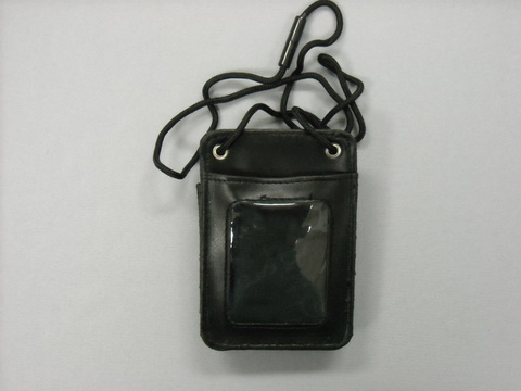 Badge Holder Leather Vert Cord