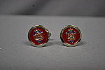 CUFFLINK KGB RAISED RED/BLU