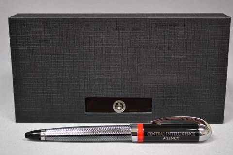 Pen Eng Verb Sil/Blk Boxed