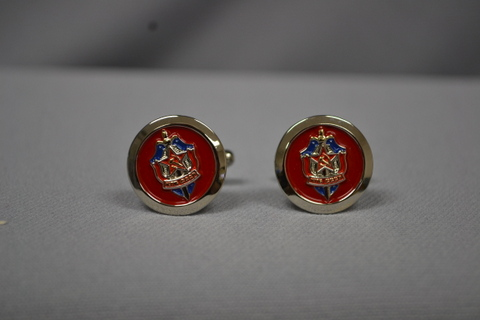CUFFLINK KGB RAISED RED/BLU