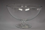 "Bowl Clear Light 8"" Footed"