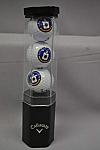 Golf Logo 3 Ball/Tee Set Blk