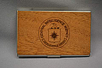 Bus Card Hldr Logo Wooden