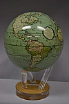"Cassini Terrestrial (Green) Mova Globe 6"""